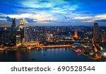 marina bay  singapore | Shutterstock . vector #690528544