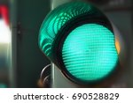 Close Up View Of Green Color On ...
