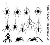 halloween spiders. black...   Shutterstock .eps vector #690537868