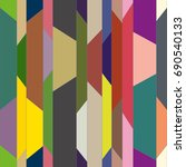 abstract color seamless pattern ... | Shutterstock . vector #690540133