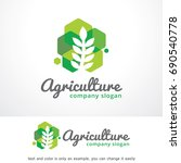 agriculture logo template... | Shutterstock .eps vector #690540778