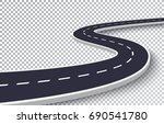 winding road isolated... | Shutterstock .eps vector #690541780