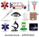 realistic healthcare and ... | Shutterstock .eps vector #69054364