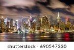 midtown manhattan  new york... | Shutterstock . vector #690547330