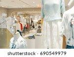 shopping mall fashion show shop | Shutterstock . vector #690549979