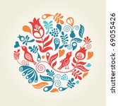 floral elements | Shutterstock .eps vector #69055426