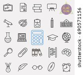 education line icon set | Shutterstock .eps vector #690571156