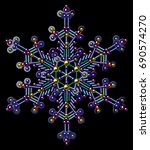 sequins  beads  snowflakes  new ... | Shutterstock .eps vector #690574270