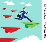 business concept as a...   Shutterstock .eps vector #690575944