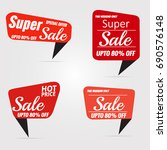 sale banner template collection | Shutterstock .eps vector #690576148