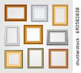 vector set of picture frames on ... | Shutterstock .eps vector #690582838