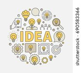 idea round colorful... | Shutterstock .eps vector #690583366