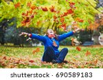 beautiful young tourist in... | Shutterstock . vector #690589183