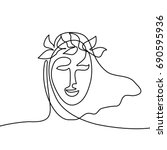 vector continuous line drawing. ...   Shutterstock .eps vector #690595936