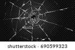 vector broken transparent glass ... | Shutterstock .eps vector #690599323