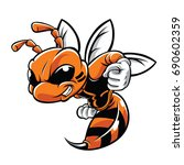 orange hornet character... | Shutterstock .eps vector #690602359
