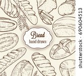 bakery retro background with... | Shutterstock . vector #690604513