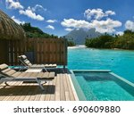 overwater royal villa in conrad ...   Shutterstock . vector #690609880