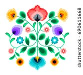 folk embroidery ornament with... | Shutterstock .eps vector #690611668