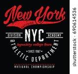 varsity t shirt graphic  vector ...   Shutterstock .eps vector #690614536