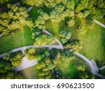 top view aerial photo from... | Shutterstock . vector #690623500