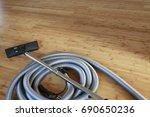 beautiful bamboo hardwood floor ...   Shutterstock . vector #690650236