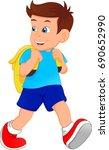 cute school boy   Shutterstock .eps vector #690652990