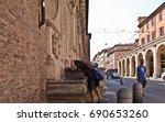 bologna  italy  02 august 2017. ... | Shutterstock . vector #690653260