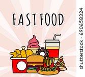 fast food vector illustration | Shutterstock .eps vector #690658324