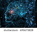 cpu mind series. abstract... | Shutterstock . vector #690673828