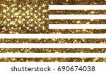 the vector golden glitter... | Shutterstock .eps vector #690674038