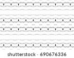 seamless black and white... | Shutterstock . vector #690676336