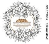 romantic invitation. wedding ... | Shutterstock .eps vector #690678139