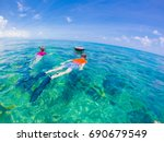 snorkelling in key west  ... | Shutterstock . vector #690679549