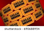 dream ticket travel destination ... | Shutterstock . vector #690688954