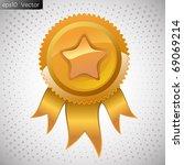 golden medal   Shutterstock .eps vector #69069214