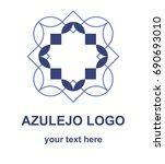 azulejo tile symbol. ornamental ...   Shutterstock .eps vector #690693010