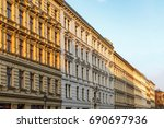 traditional berlin street... | Shutterstock . vector #690697936