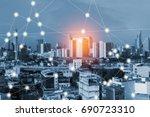 modern and wireless sensor... | Shutterstock . vector #690723310