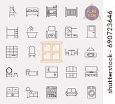 interiors furniture line icon... | Shutterstock .eps vector #690723646