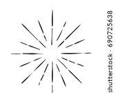 hand drawn vintage sunburst | Shutterstock .eps vector #690725638