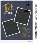 halloween night party trick or... | Shutterstock .eps vector #690730840