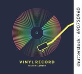 poster of the vinyl record.... | Shutterstock .eps vector #690730960
