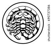 astrology zodiac signs circular ... | Shutterstock .eps vector #690737386