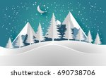 vector illustration of the snow ... | Shutterstock .eps vector #690738706