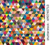 abstract geometric colorful... | Shutterstock .eps vector #690740713