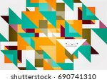 triangle pattern design... | Shutterstock .eps vector #690741310