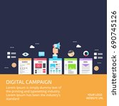 digital campaign  content... | Shutterstock .eps vector #690745126