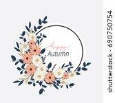 autumn flowers set | Shutterstock .eps vector #690750754