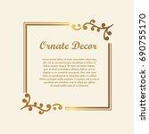 vector decorative element for... | Shutterstock .eps vector #690755170